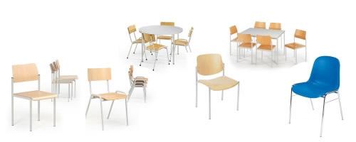 Kantinenstühle bzw. Pausenraum Stühle
