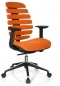 Preview: Design Bürostühle orange