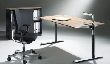h henverstellbarer rundrohr schreibtisch g nstig. Black Bedroom Furniture Sets. Home Design Ideas