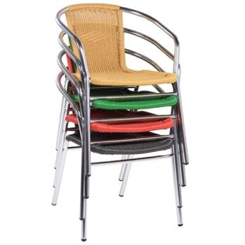Outdoor Stühle Gastronomie Dekoration Bild Idee