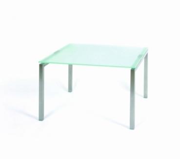 glastisch beistelltisch edelstahl glastisch. Black Bedroom Furniture Sets. Home Design Ideas