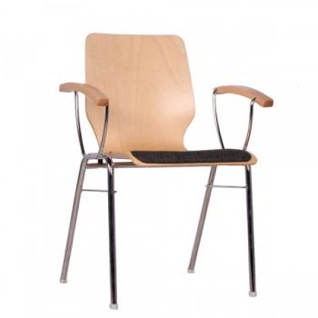 holzschalenst hle mit armlehnen besucherst hle. Black Bedroom Furniture Sets. Home Design Ideas