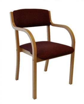 holzst hle mit weich gepolstertem sitz und r ckenlehen. Black Bedroom Furniture Sets. Home Design Ideas