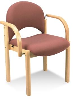 holzst hle mit armlehne gepolstert von. Black Bedroom Furniture Sets. Home Design Ideas