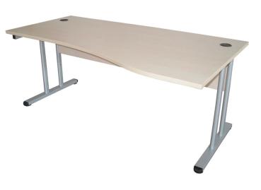 Schreibtisch mit sichtblende 100 cm breite links for Schreibtisch breite 70 cm