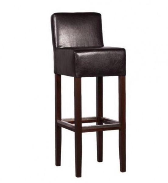 barhocker aus holz gepolstert mit r ckenlehne kaufen. Black Bedroom Furniture Sets. Home Design Ideas
