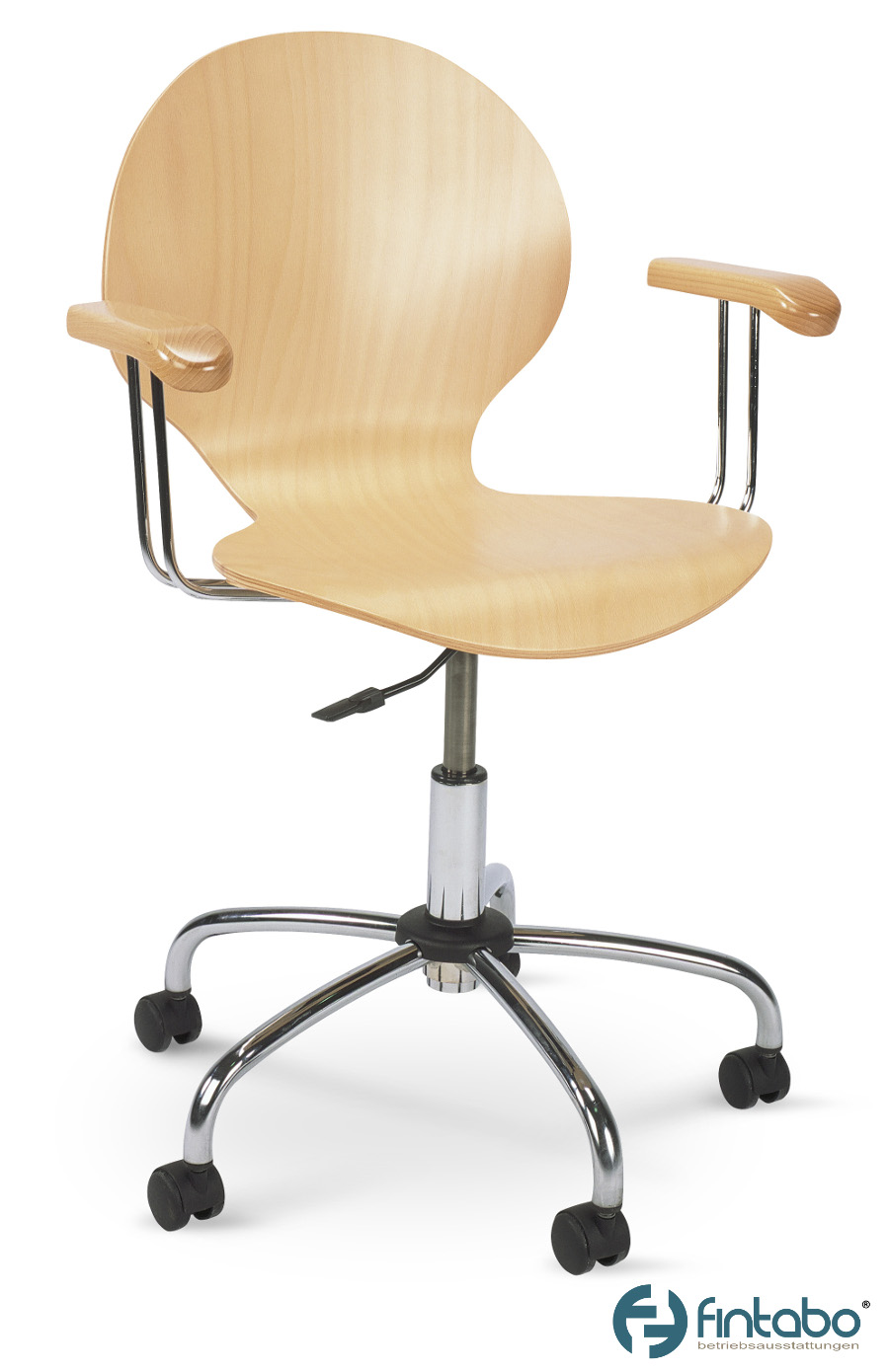Holz Bürostühle - Drehstühle mit Armlehne Direktverkauf | Stuhlux.com