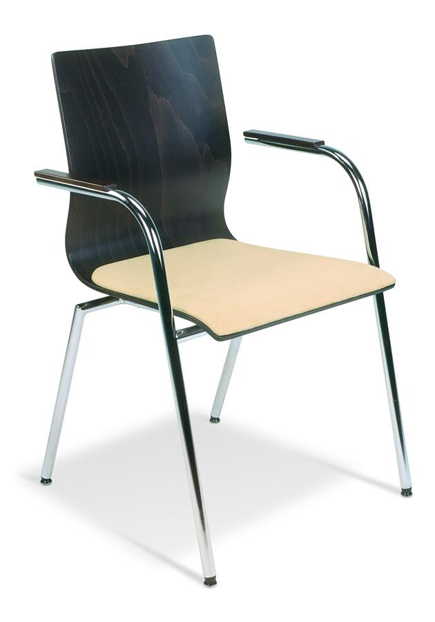 holzschalenst hle mit armlehnen u sitzpolster. Black Bedroom Furniture Sets. Home Design Ideas