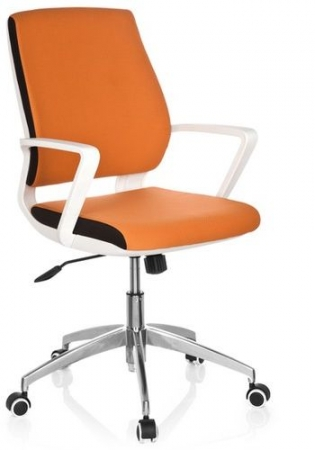 Design Bürostühle orange / weiß
