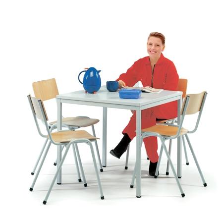 Kantinenstühle mit Tisch im Set Stapelbare Stühle
